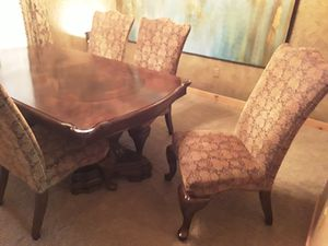 Dining room table with 6 chairs and cabinet for Sale in Wichita, KS