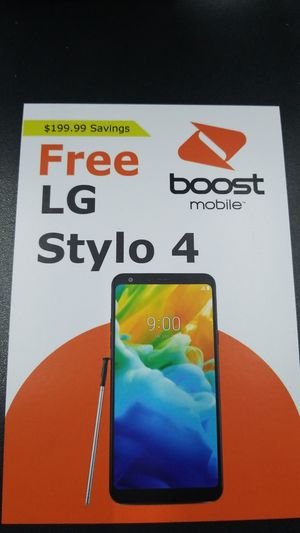 LG Sytlo 4 free when switch to boost mobile for Sale in Houston, TX
