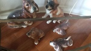 💕🐶 5 Glass statue dogs 🐶 💕 for Sale in Elk Grove, CA