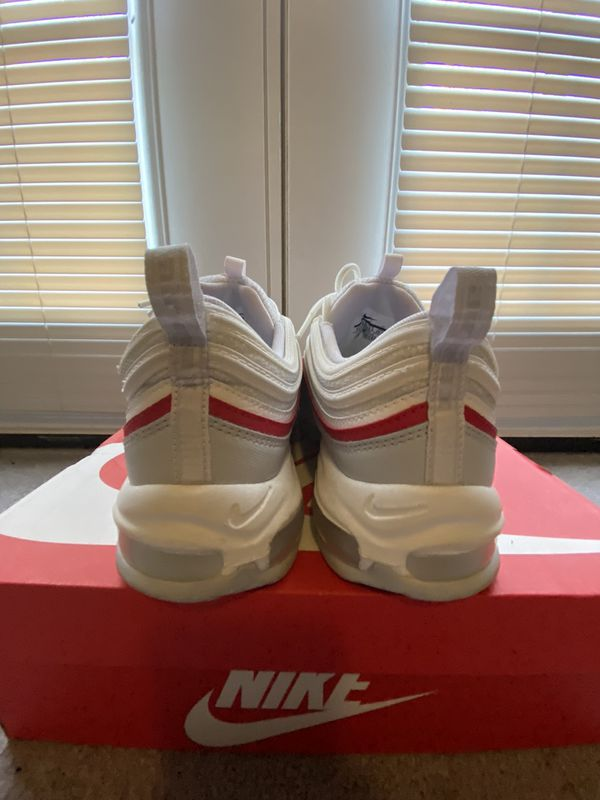 NIKE AIR MAX 97 (RED & WHITE) MEN 10.5