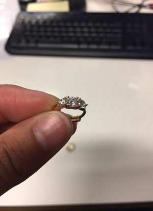 Small CZ diamond hoop earring for Sale in Portland, OR