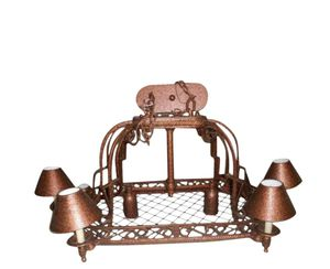 New led island kitchen light chandelier copper for Sale in Cleveland, OH
