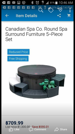 Brand new 5 piece spa surround furniture package for Sale in NC, US