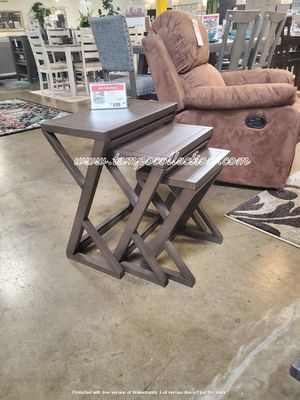 3 PC End Table Set, Brown for Sale in Huntington Beach, CA