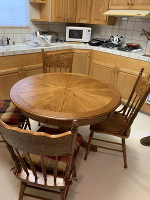 Kitchen table oak for Sale in Santa Cruz, CA
