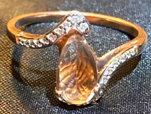 EXTREMELY RARE 1.4ct Natural Beryl Morganite in a 24 diamond-encrusted 10k Rose Gold setting for Sale in Knoxville, TN