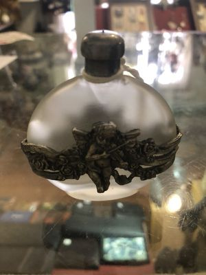 Antique angel perfume bottle for Sale in Durham, NC