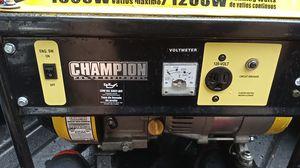 ChampionPowerEquiptment 1500watt/1200running watt power generator barley used. for Sale in SeaTac, WA
