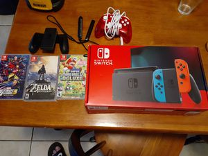 Nintendo switch 3 games 1extra controller for Sale in Sacramento, CA