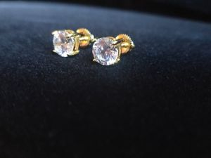 7mm 14kt Solid Yellow silver Studs for Sale in Tucker, GA