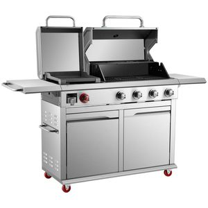 NEW IN BOX!! RETAIL $500 ●● Dyna-Glo 4-Burner Propane Gas Grill in Stainless Steel with Griddle ○○○ for Sale in Dallas, TX