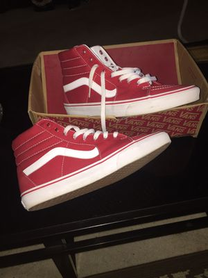 Red & White Vans SZ 10.5 Like New!! for Sale in Port Acres, TX