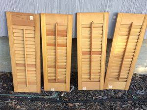 """New (4) Interior Wood Shutters – No hardware – 8"""" wide x 24"""" high (each) Price is for all 4. for Sale in Yonkers, NY"""