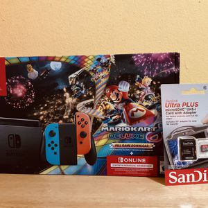 Nintendo Switch Console :Bundle 💥Mario Kart 8 Deluxe & (64g Memory Card) for Sale in Miami, FL