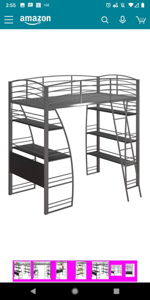 Bunk bed desk and shelving. Nearly new. for Sale in Arkansas City, KS