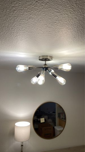 Light fixture with Edison bulbs for Sale in Los Angeles, CA