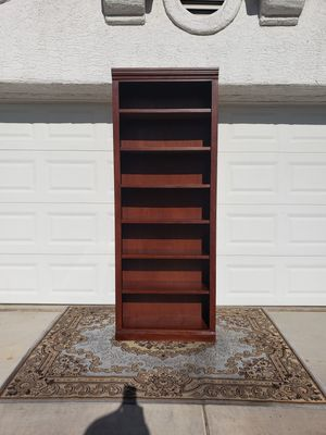 WALKER HARDWOOD 7 FOOT TALL BOOKCASE CABINET for Sale in Las Vegas, NV