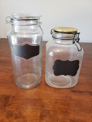 Glass chalkboard label storage containers for Sale in Cranston, RI