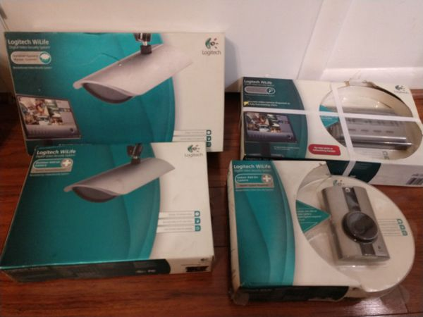 Video Security System Logitech WiLife. PowerLine technology. 4 cameras