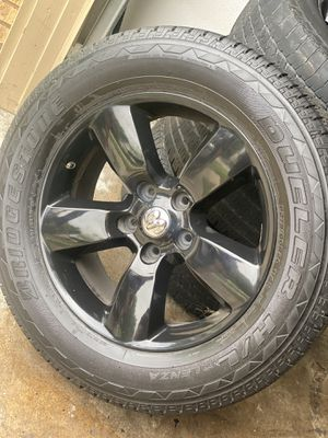 """Tires/Dodge/20"""" Black Dodge Rim and tires for Sale in Grand Prairie, TX"""