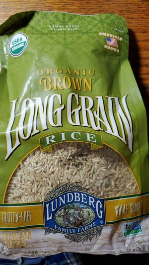Lundenberg organic brown long grain rice 1/2 lb bag best before February 2021 $2 for Sale in San Diego, CA