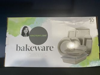 Rachael Ray Nonstick Bakeware Set, 10-Piece, Silver for Sale in Houston,  TX