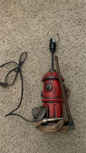 Firefighter fire hydrant lamp for Sale in Victorville, CA