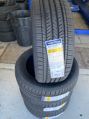 215/55/17 New set of Goodyear tires installed for Sale in Rancho Cucamonga, CA