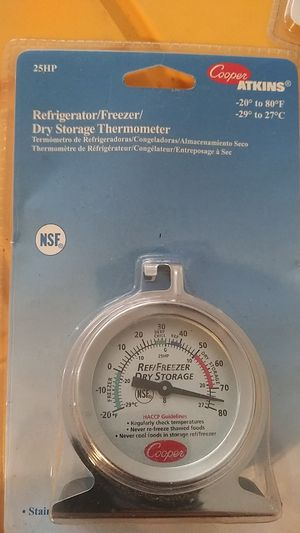 Refrigerator freezer dry storage thermometer for Sale in Downey, CA