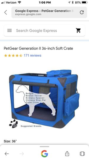 Pet Gear portable canvas dog crate ( used once) $75 PRICE REDUCED!!! for Sale in Portland, OR