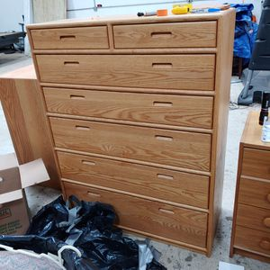 Real wood oak dresser and chest for Sale in Lorton, VA