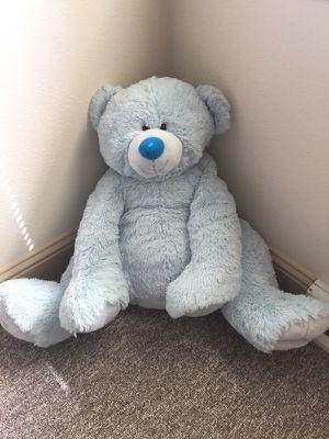 Big blue stuffed bear for Sale in Silverdale, WA