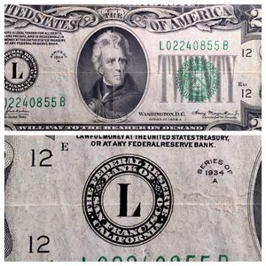 1934 A San Francisco 20 Dollar Note NIce Condition See Pics! for Sale in Geneva, IL