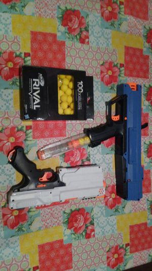 Nerf Rival Guns and 100ct Bullets All for $35 for Sale in Austin, TX