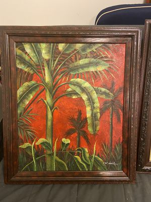 Art acrylic paintings on canvas, framed for Sale in Miami, FL