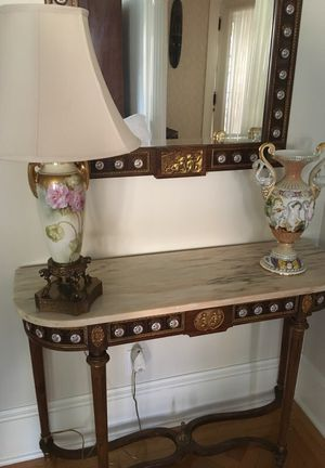 "Vintage Spanish Spain ormolu mirror & console side marble table 41"" x 31"" x14"" for Sale in Newton, MA"