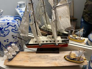 Sale boats ,wooden sailors, lantern and hanging boats for wall for Sale in Tampa, FL