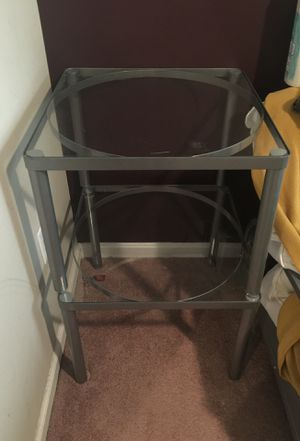 Pair of IKEA glass end tables for Sale in Oxon Hill, MD