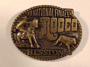 1978 Hesston NFR Belt Buckle for Sale in Newton, KS