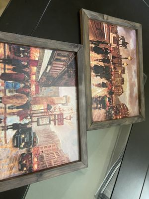Two wood paintings for Sale in Fort Worth, TX