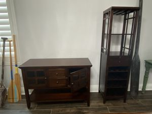 Buffet, Wine Rack, Table, Bench and 🪑 for Sale in Temecula, CA