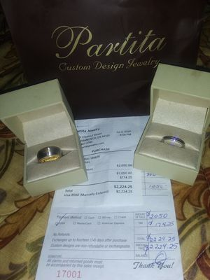 14kt gold and 18kt white gold men's ring also a platinum diamond women's ring for Sale in San Francisco, CA