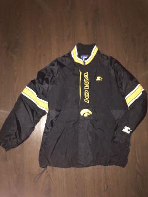 Vintage Iowa Hawkeyes Starter Jacket Coat Throwback 90's Large Half Zip Pullover for Sale in Tempe, AZ