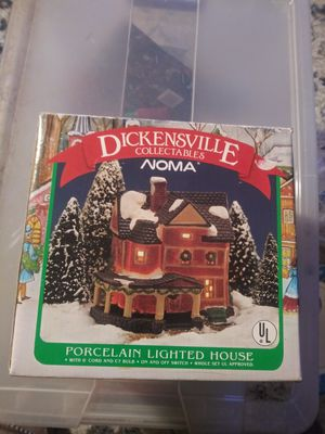 Dickensville Collectables Christmas Hous Dickensville Collectables Christmas Village Noma Lighted Porcelain House for Sale in Montgomery Village, MD