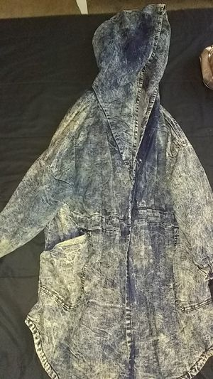 Plus size Jean jacket with hoodie for Sale in District Heights, MD