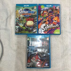 3- NINTENDO Wii U Games (mint Condition ) for Sale in Wheaton, IL