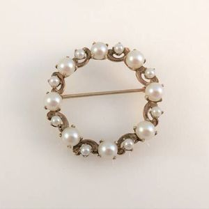 Vintage Esemco Solid 10K Gold Circle Brooch Pin Appraised for $325 for Sale in Venice, FL