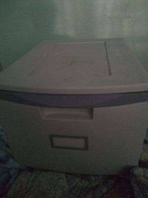 Grey plastic Storex Lockable Storage drawer for Sale in Edgewater, FL