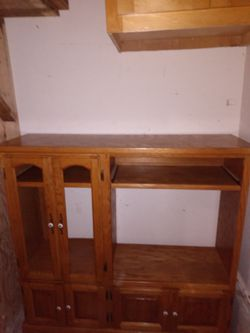 "Nice tv stand just need two glasses on the left side.54"" by 54' for Sale in Kent,  WA"