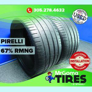 2 PIRELLI P ZERO NO XL 305/30/20 USED TIRES 67% RMNG PORSCHE 103Y PZERO 3053020 for Sale in Miami, FL